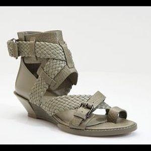 Alexander Wang Petra Mini Wedge Sandal 39 black